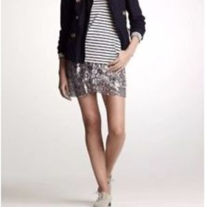 J. Crew Collection Fete Sequin Mini Skirt H9